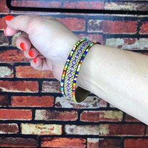 5 for $25🔥Beaded & Embroidered Boho Bracelet Cuff